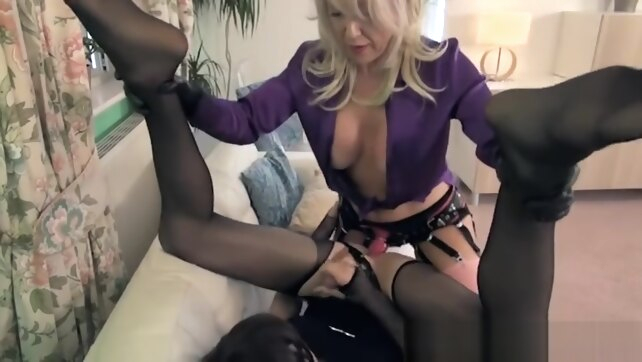 Strapon sissy fetish shemale fucks girl toys