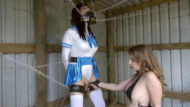 Sissy milked by Mistress bdsm toys